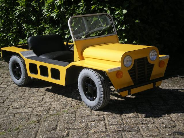 A Mini Moke child's pedal car,