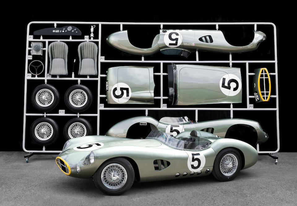 A unique 1:1 scale Aston Martin DBR1 'AirFix' tribute, hand-made by the Evanta Motor Company of Hertfordshire, England,