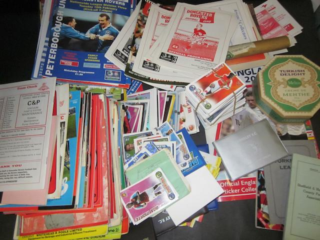 A collection of Barnsley football programmes and ephemera