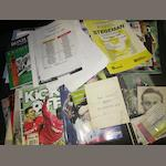 A collection of Barnsley programmes and other miscellaneous items