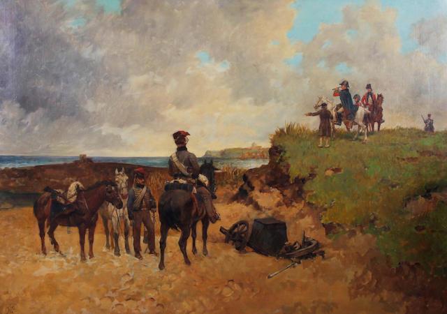 Richard Beavis (British, 1824-1896) 'Staff Officers Reconnoitring'