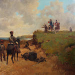 Richard Beavis (British, 1824-1896) 'Staff Officers Reconnoitring'