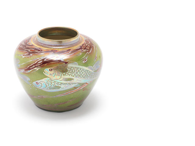 Royal Lancastrian vase - Fish