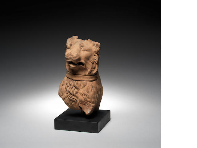 A Roman terracotta head of a Molossian hound