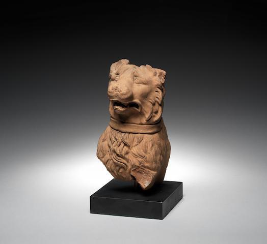 A Roman terracotta head of a Molossian hound