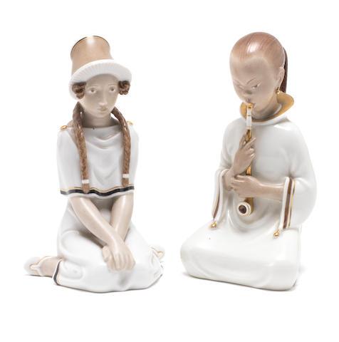 Two Royal Copenhagen figures, 1920s