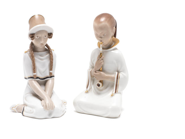 Two Royal Copenhagen figures, 1920s
