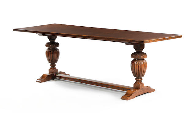 A large 17th  century style oak refectory table