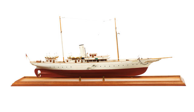 A model of the steam yacht Star of India  35.5x7.5x16ins. (90x19x41cm)