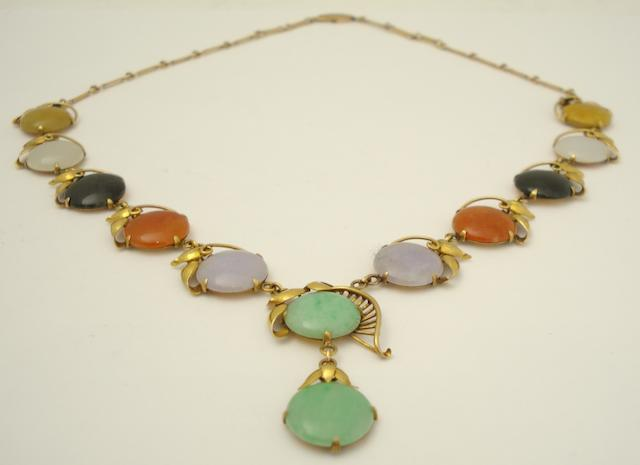 A jadeite necklace