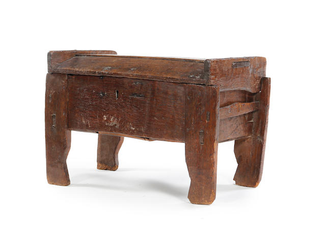 A 15th century oak Ark coffer