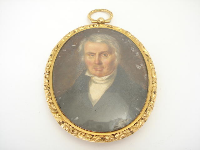 A 19th century portrait miniature