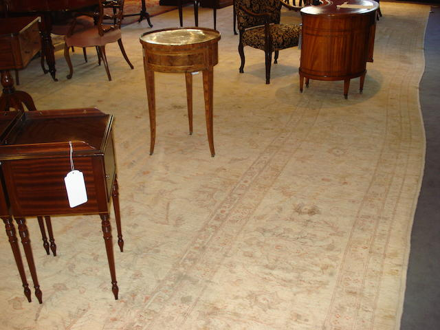 A large and impressive Ziegler design carpet, size approx. 1140cm x 600cm, reduced in size