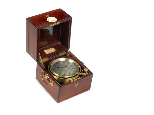 A Two Day ship's chronometer, By Barraud of London, Maker to the Royal Navy.