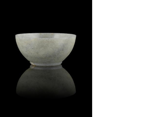 A grey jade bowl 18th/19th century