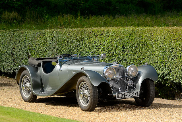 1937 SS100 Jaguar 2½-Litre Roadster  Chassis no. 49017 Engine no. L368E (originally L1017E)