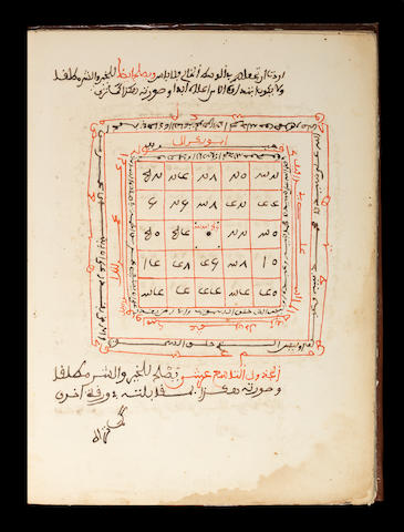 Abdul-Rahman bin Muhammad bin Abdul-Haq as-Shami, Fawa'id min 'ulum al-batin yantafi'a biha al-ta'in wa al-qatin, a treatise on occult and magic numbers and letters North Africa, 19th Century