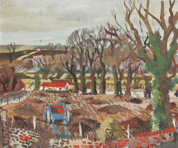 Rowland Suddaby (British, 1912-1973) Winter at Stoke-by Nayland