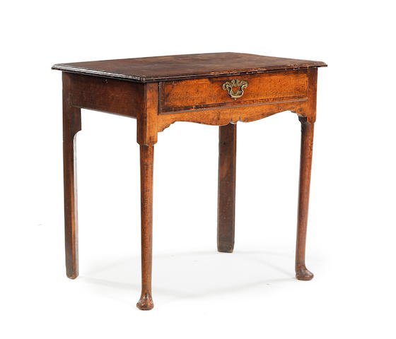 A George II oak side table - Chester