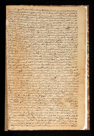 A miscellany of anecdotes and chronicles including a work entitled Manahil al-Safa fi Akbar al-a'ima al-Shurafa' North Africa, dated Wednesday 12th Rajab 998/AD 1589-90 and later