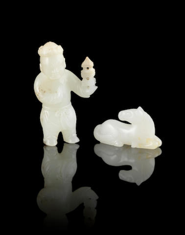Two small jade carvings Ming or Qing Dynasty