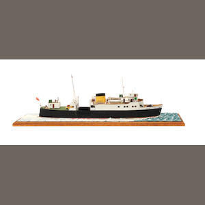 A waterline model of the Passenger ferry MV Bute 1954 26x8x9ins. (66x20x24cm)
