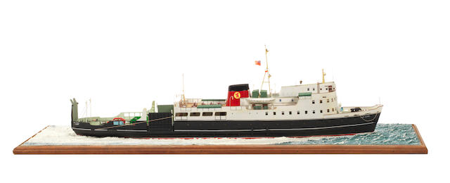 A waterline model of the Passenger ferry  TS Glen Sannox 1925 32.7x9x10ins. (83x23x25cm)