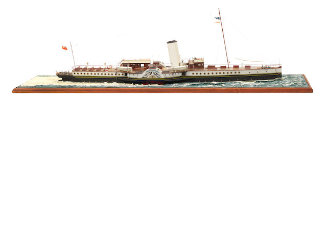 A waterline model of the Passenger ferry PS Cambria 1895 37x10x12ins. (94x25x31cm)