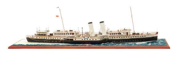 A waterline model of the Passenger ferry PS Bristol Queen 1946 37x12x12ins. (94x31x31cm)