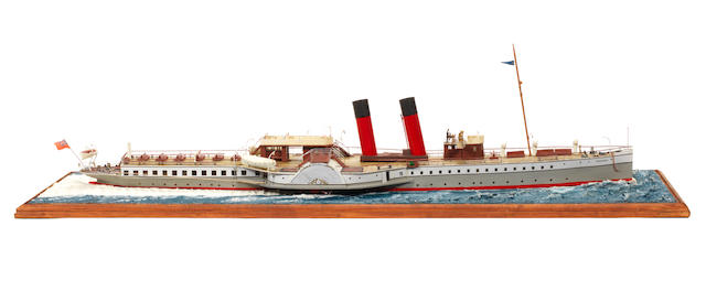 A waterline model of the Passenger ferry PS Devonia 1905 30.5x9x9ins. (78x24x24cms)
