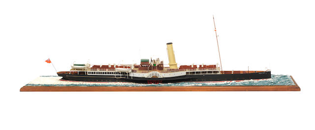 A waterline model of the Passenger ferry PS London Belle 1893 37x9x10ins. (94x23x25cm)