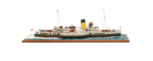 A waterline model of the Passenger ferry PS Caledonia 1934 28x9.5x10ins. (71x24x25cm)