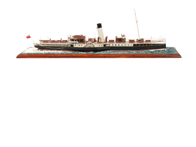 A waterline model of the Passenger ferry  PS Eagle lll 1910 34x10x12ins. (87x25x31cm)