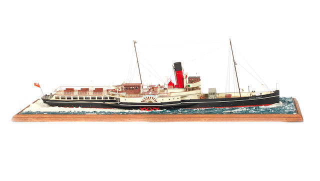 A waterline model of the Passenger ferry PS Princess Elizabeth 1927 25x8x8ins. (64x20x20cm)