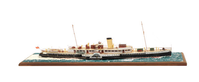 A waterline model of the Passenger ferry PS Royal Eagle 1932
