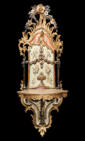 A polychrome and gilt decorated wood Turban Stand (kavakluk) Edirne, Turkey, 18th Century