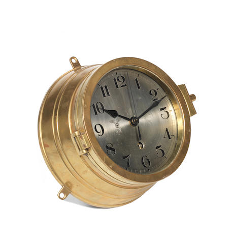 A Kriegsmarine U Boat Eight Day Bulkhead clock 8ins. (20cm) diam.