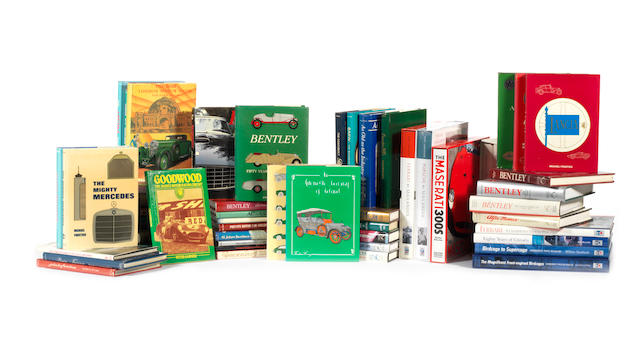 A collection of Dalton Watson motoring books relating to prestige marques,