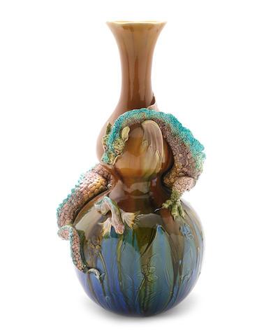 Bretby-Burmantoft large dragon vase