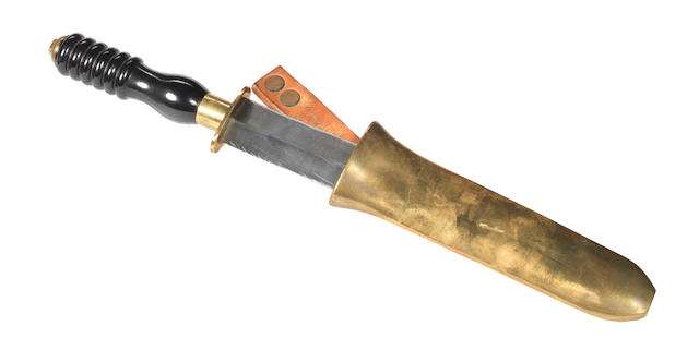 A diver's knife by Siebe Gorman. 13ins. (33cm)long.
