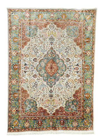 An Anatolian silk carpet 405cm x 292cm