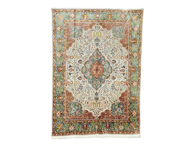 An Anatolian silk carpet 405cm x 292cm