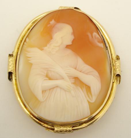 A cameo brooch
