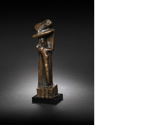 Henry Moore O.M., C.H. (British, 1898-1986) Upright Motive: Maquette No.8 30.5 cm. (12 in.) high (including base)