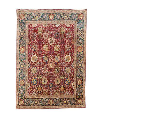 A Tabriz carpet, North West Persia, 382cm x 270cm