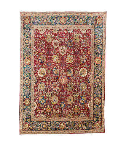 A Tabriz carpet, North West Persia, 382cm x 270cm