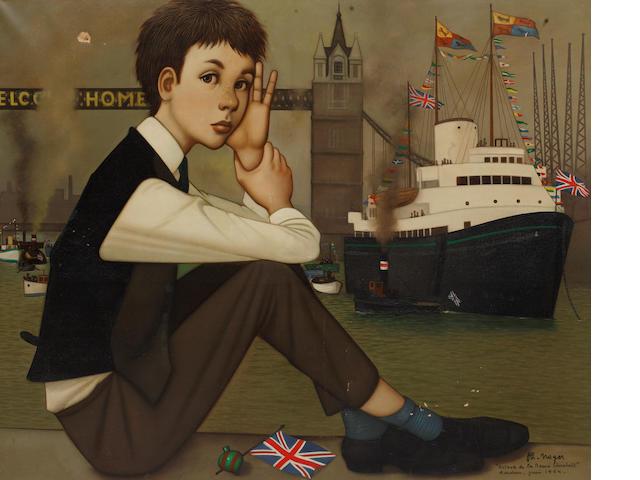 Philippe Henri Noyer (French, 1917-1985) 'Retour de la Reine Elizabeth Londres- Juin 1954'
