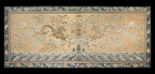 A silk textile fragment Qing Dynasty