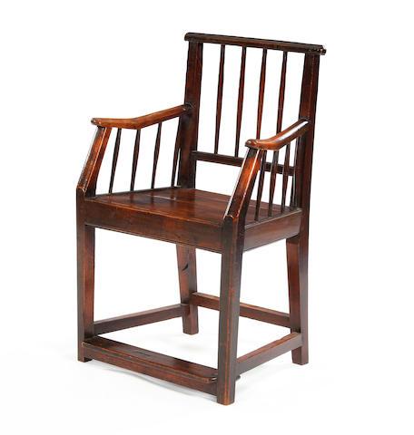 Cherry/Elm open armchair