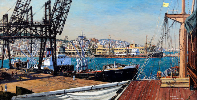 Claude Muncaster (British, 1903-1974) 'In the Docks: Algiers'